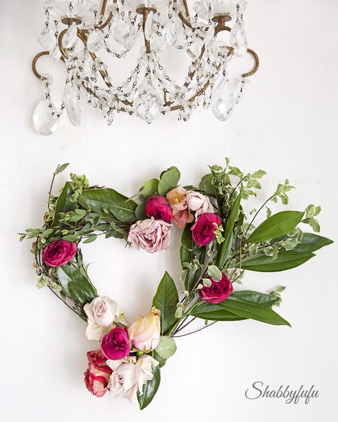 Diy Valentines Day Floral Heart Wreath