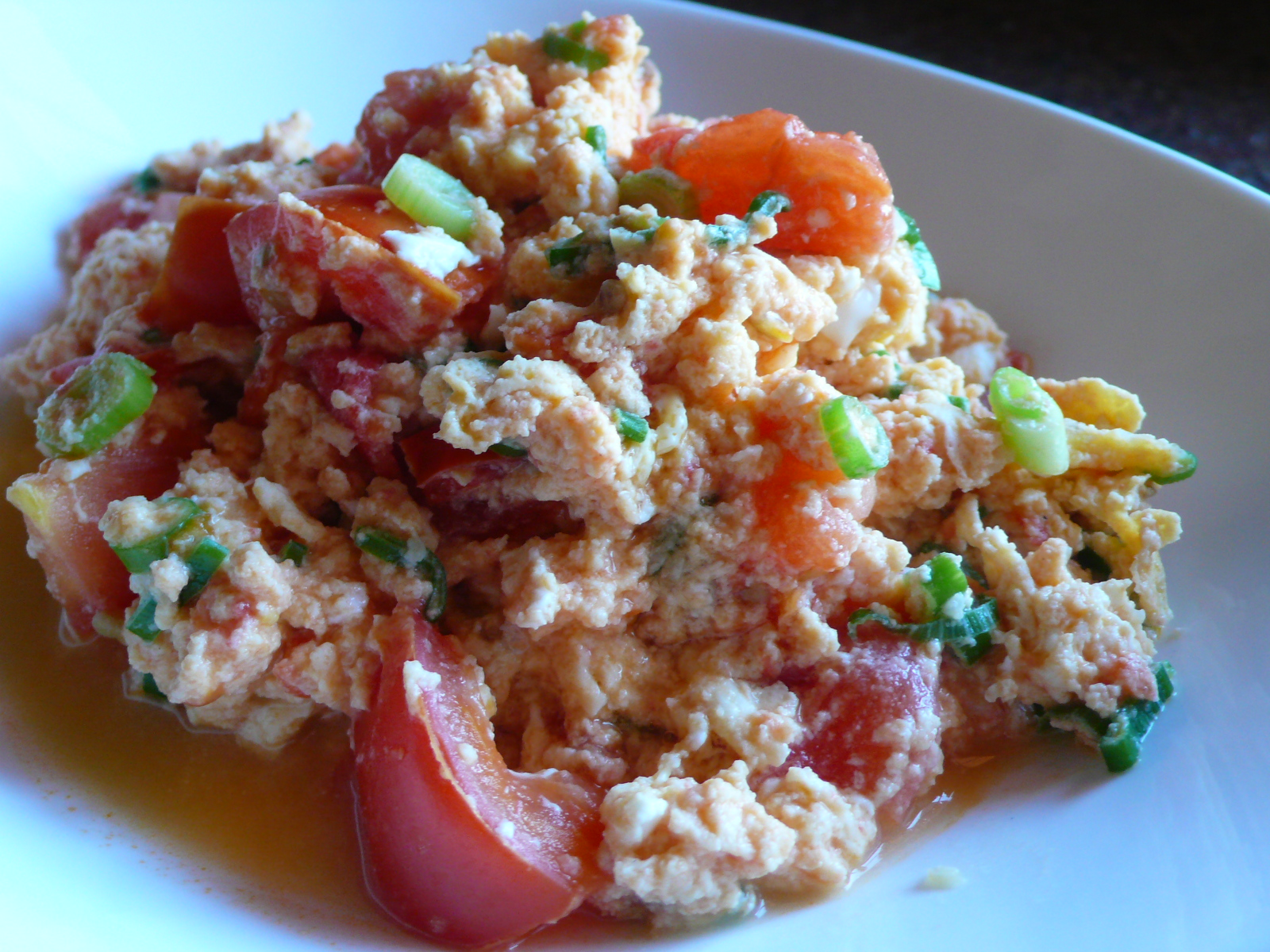 Blue Apocalypse: Scrambled eggs and tomatoes