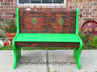 Green Rustic Church Pew