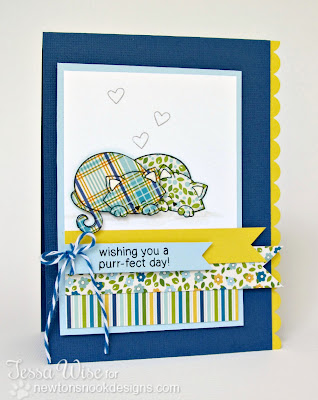 Cat Card using Newton's Antics Stamp set