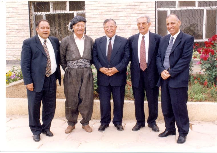 مع كريم أحمد . مام جلال .عزيز محمد. سعدي پيره