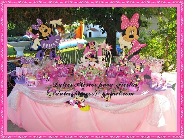 Decorar Kiosco ~ Dulces Kioscos para Fiestas   Cumplea?os Tematico de Minnie en Rosa