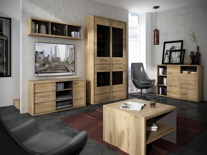 Muebles para salas con madera de roble decoraci n de salas for Muebles de sala madera