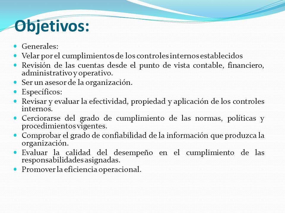 REPRESENTACIONES DE LA ADMINISTRACIÓN | Auditoria III