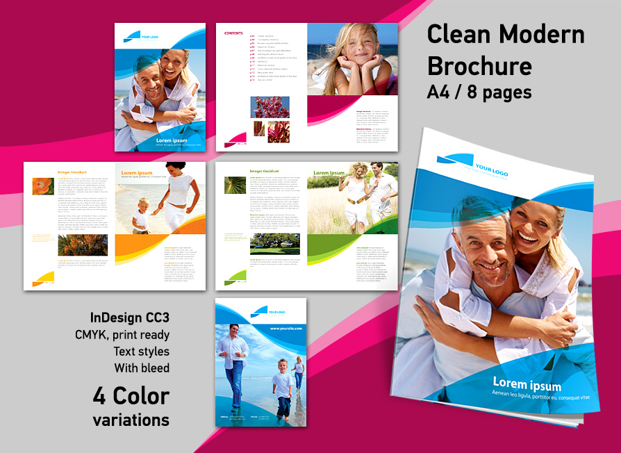 Brochure Zafira Pics: Indesign Brochure Templates