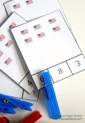 flag count and clip cards free printable guest post preschool