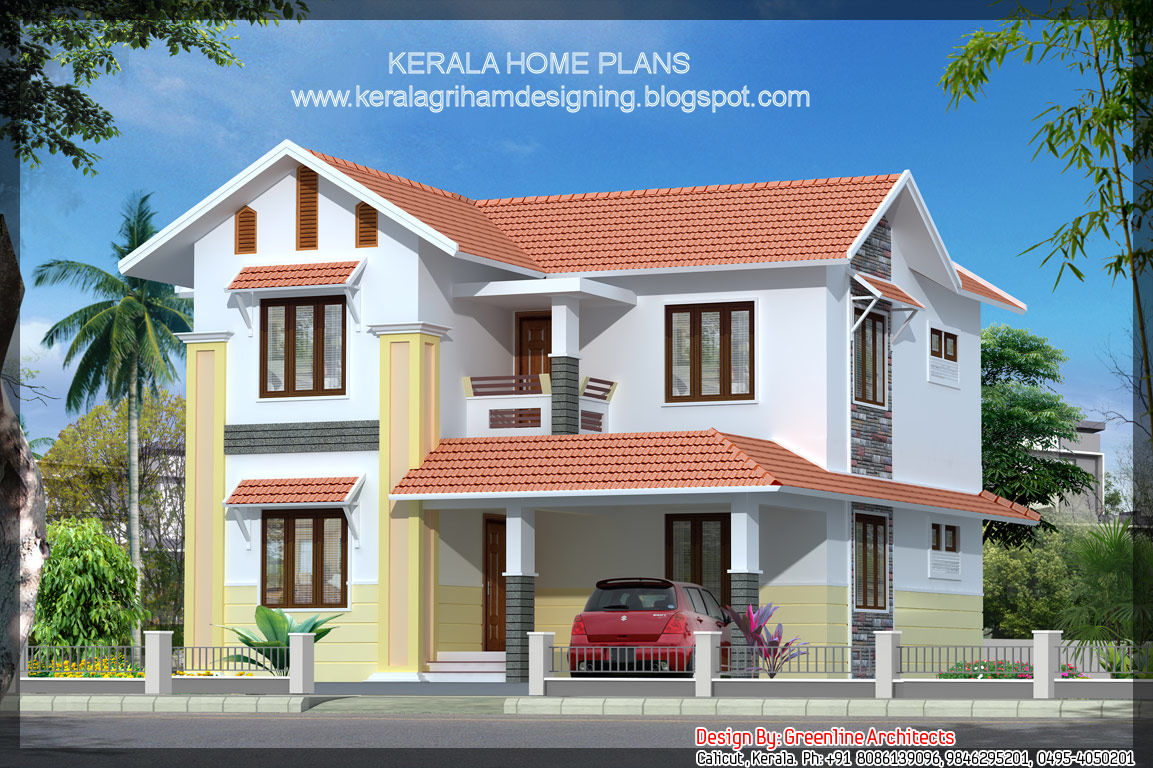 Small villa elevations in india joy studio design for Small villa plans in kerala