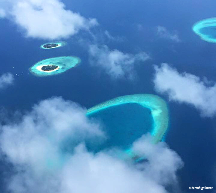 Maldives faru ring shaped reef