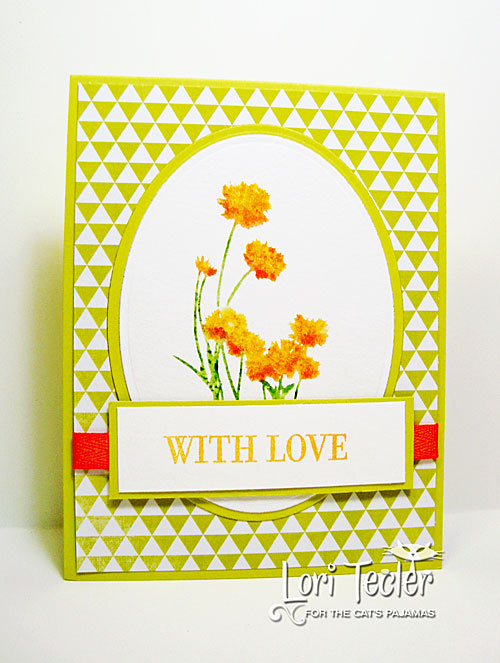 With Love card-designed by Lori Tecler/Inking Aloud-stamps from The Cat's Pajamas