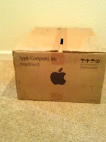 Box that kept Apple ImageWriter II printer