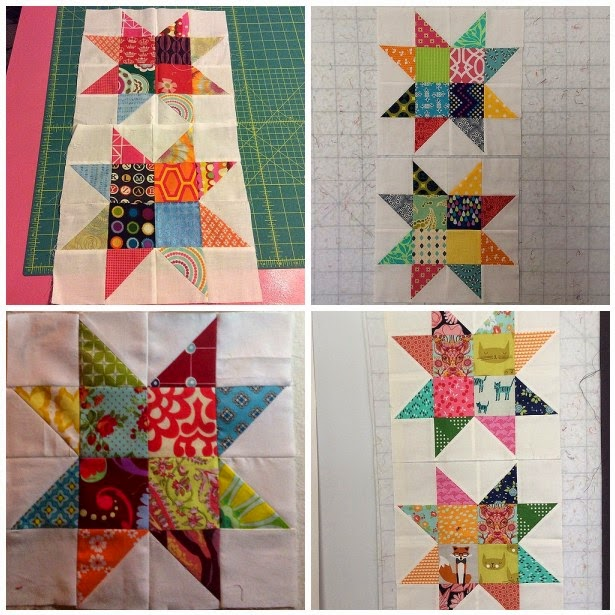 scrappy simple star quilt