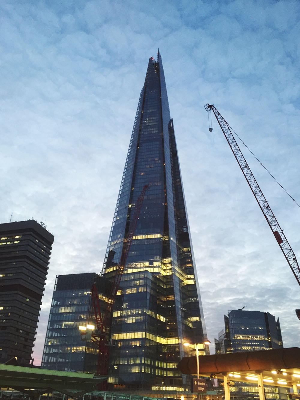 The Shard; my view from London Bridge platform!