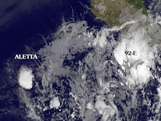 ALETTA ist kein Sturm mehr - 92E jetzt vor Acapulco, Mexiko, Aletta, Bud, Mai, 2012, aktuell, Mexiko, Oaxaca, Acapulco, Guerrero, Hurrikansaison 2012, Nordost-Pazifik, Pazifik, Pazifische Hurrikansaison, Vorhersage Forecast Prognose,