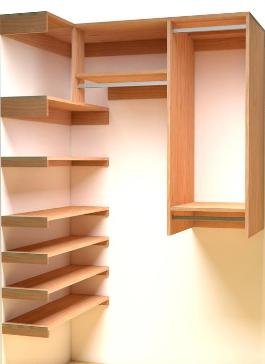 Reach In Closet Organization Layout