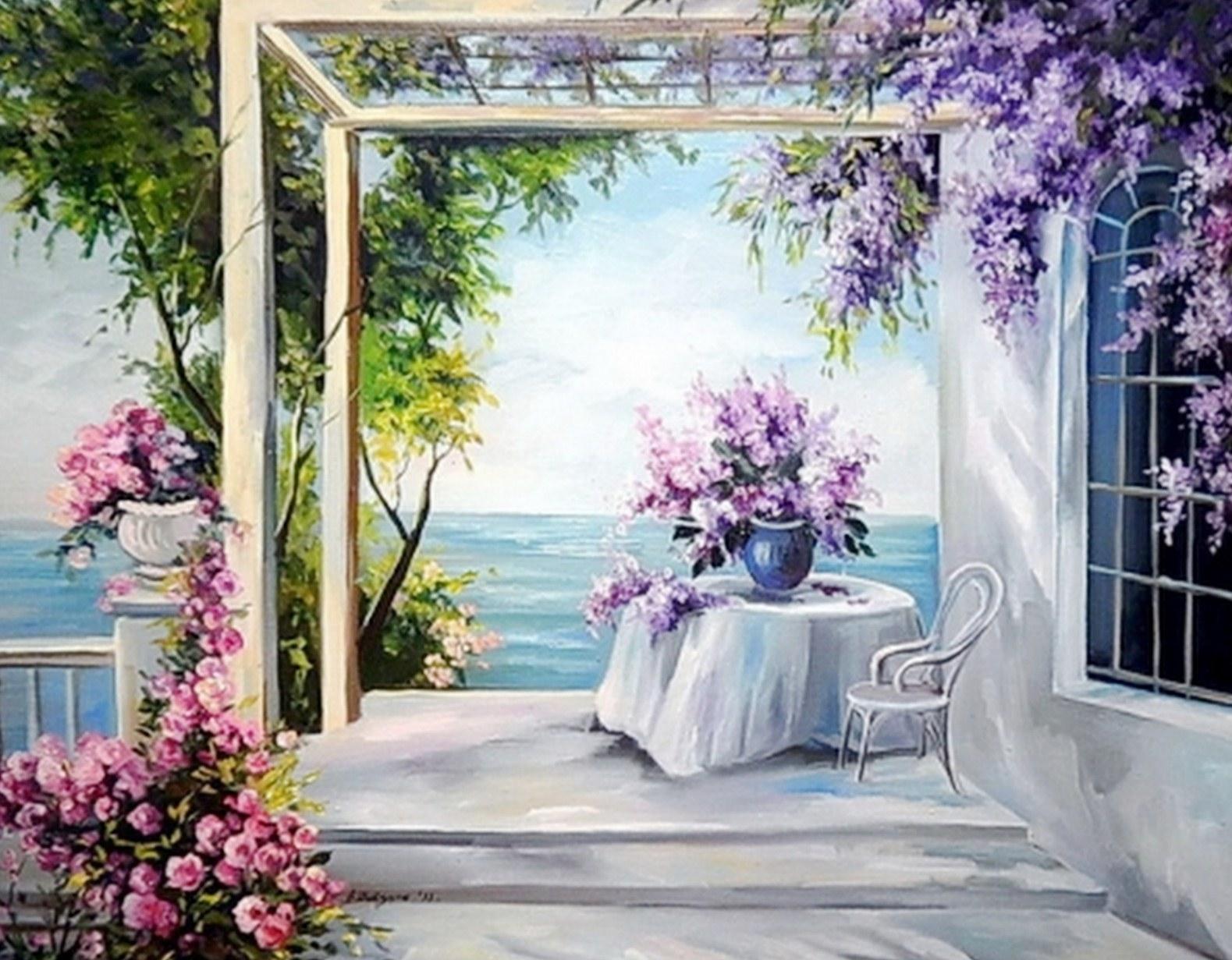 Fotos De Cuadros De Flores Pintados Al Oleo - Flores Pintadas Al Oleo Imágenes de Flores Hermosas