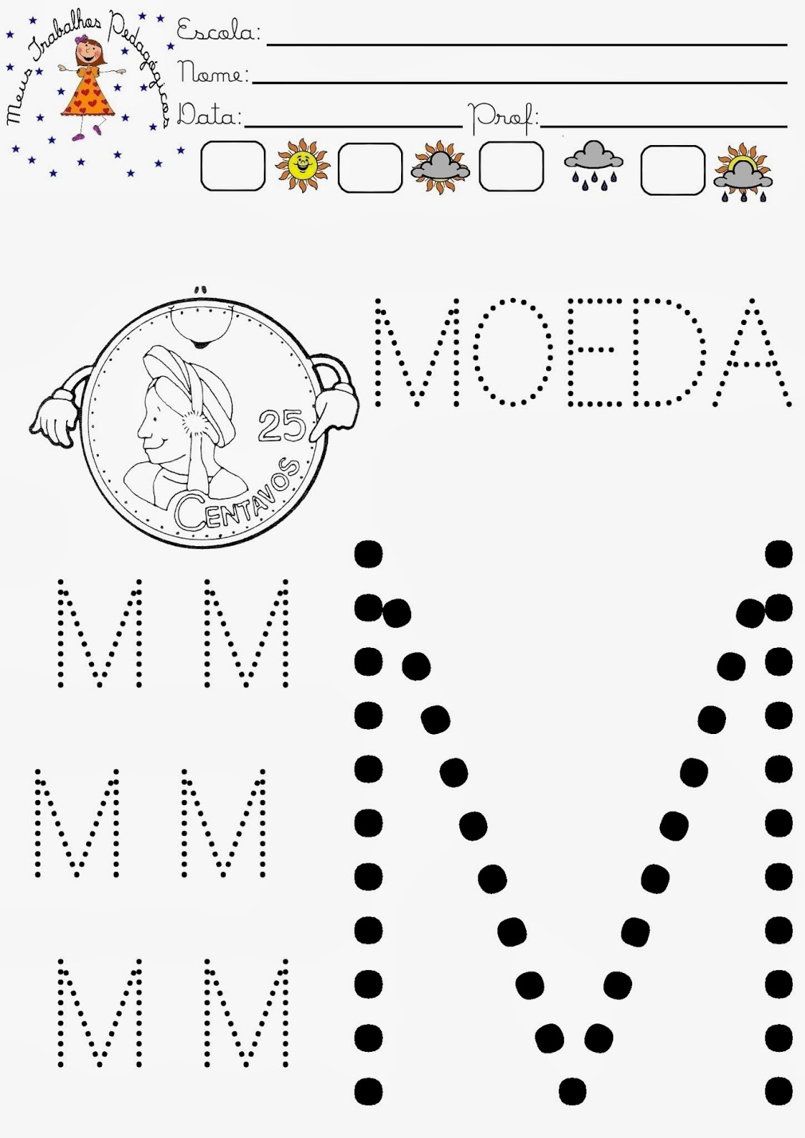 Fabuloso Meus Trabalhos Pedagógicos ®: Atividades com a letra M UW34