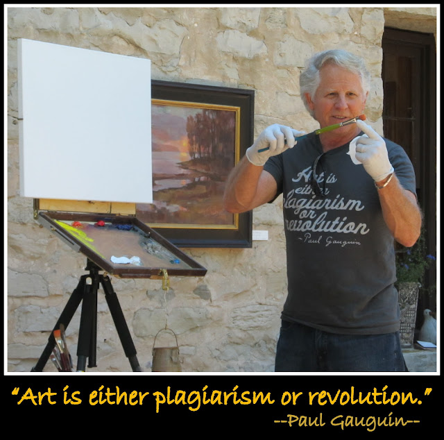 "photo of: ""Art is either plagiarism or revolution.""  quote"