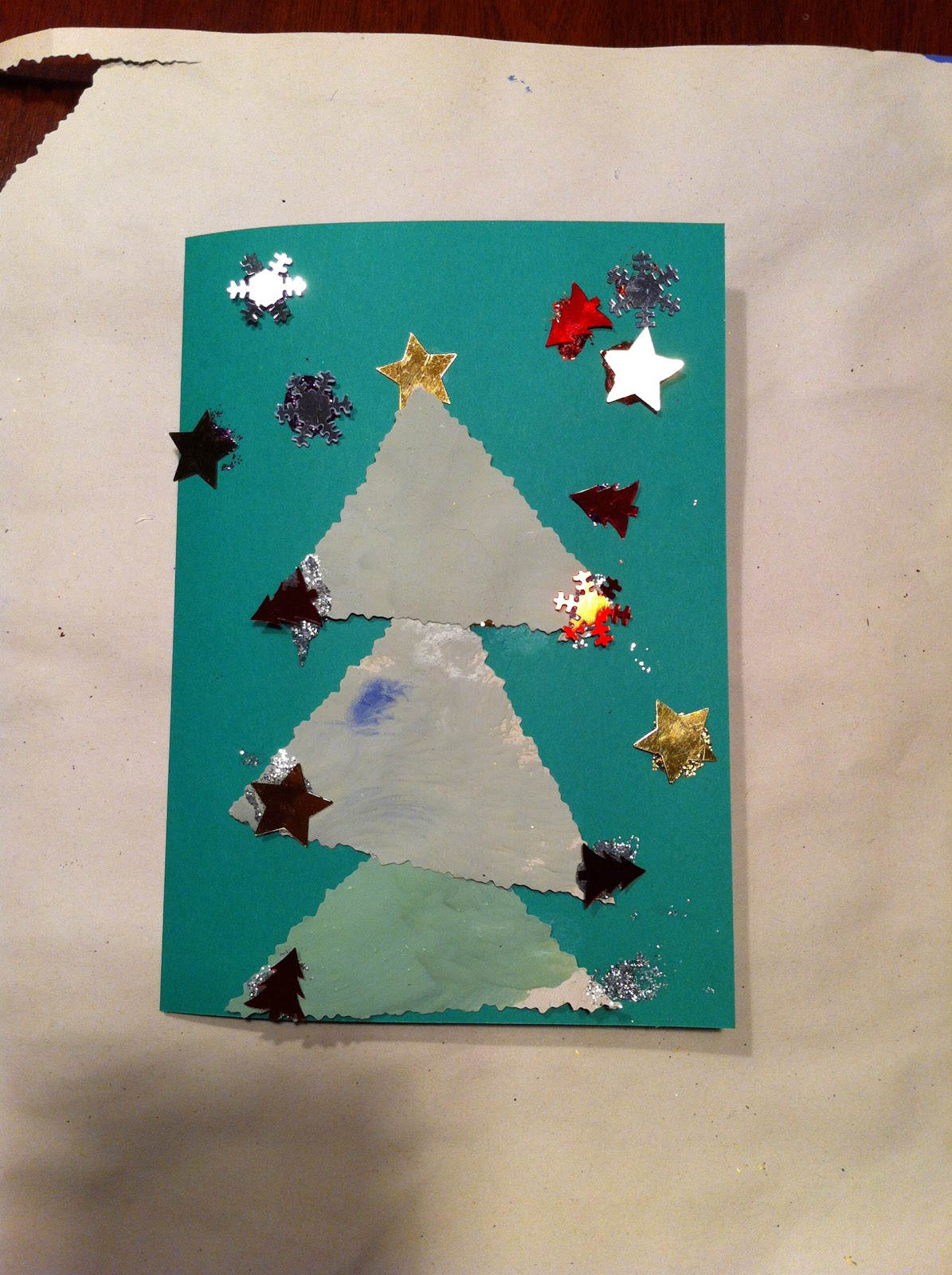 Baby Baby: An Easy Christmas Card Design for a Child to Make