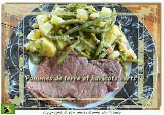 Vie quotidienne de FLaure: Pommes de terre et haricots verts