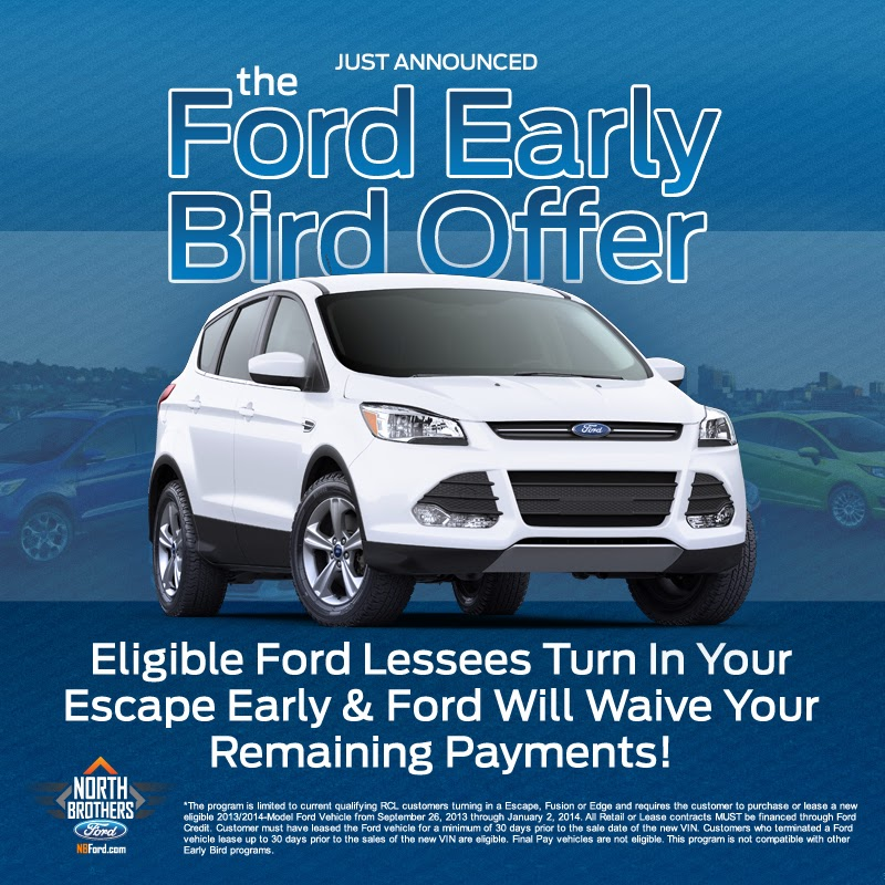 Ford Escape Early Lease Turn In at North Bros Ford