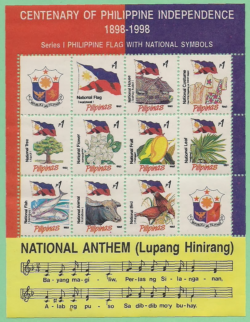 Postage Stamps Of Flag And National Anthem Philippines