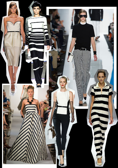 2013 Fashion Trends Monochromatic Stripes