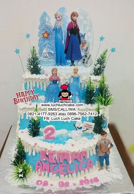 Kue Tart Frozen Birthday Cake Elsa and Anna