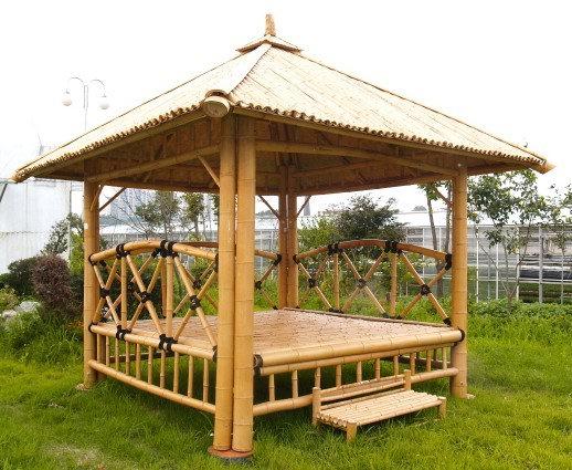 Gazebo bambu unik - Pergola bambu ...