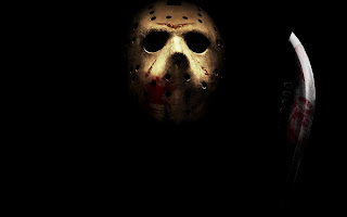 Jason Bloody Mask Knife Halloween Wallpaper