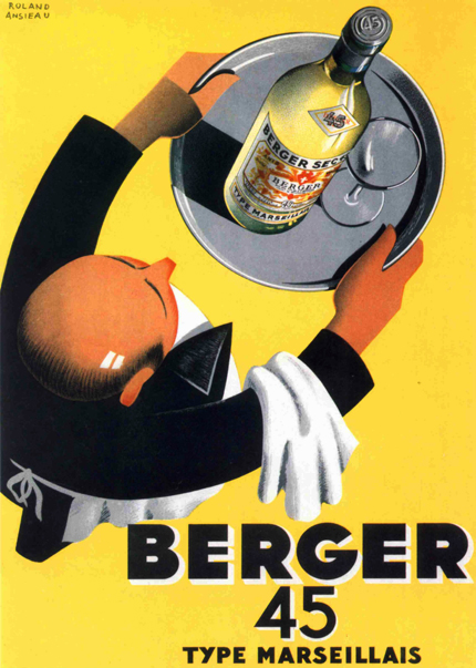 advertising, classic posters, food, free download, free printable, french poster, graphic design, printables, retro prints, vintage, vintage posters, vintage printables, Berger 45, Type Marseillais - Vintage Food/Drink French Printable Poster