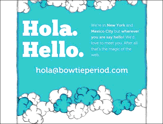 Bowtie - Website design using drawings and illustration