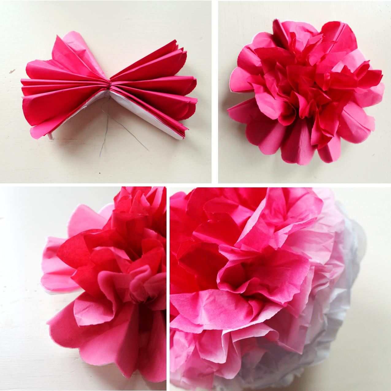 Icing Designs DIY Ombre Tissue Paper Poms
