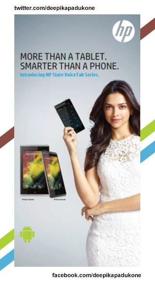 Deepika Padukone as the new face of HP!