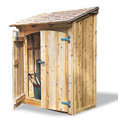 My weeds are very sorry gardening in winter - Build toolshed protect gardening tools ...