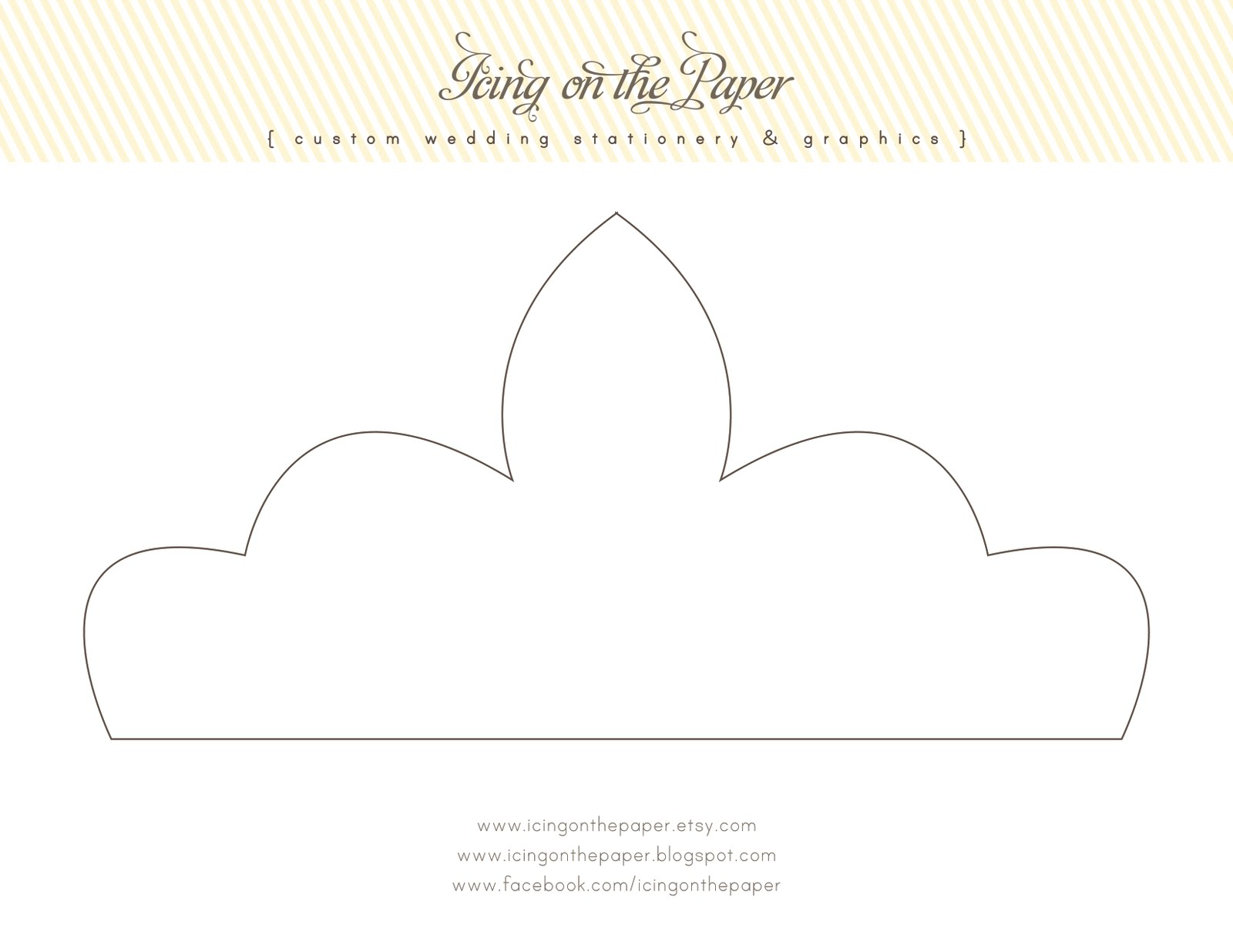 icing on the paper free printable tiara With free printable tiara template