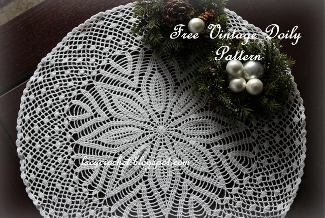 Lacy Crochet Big Vintage Doily Free Crochet Pattern