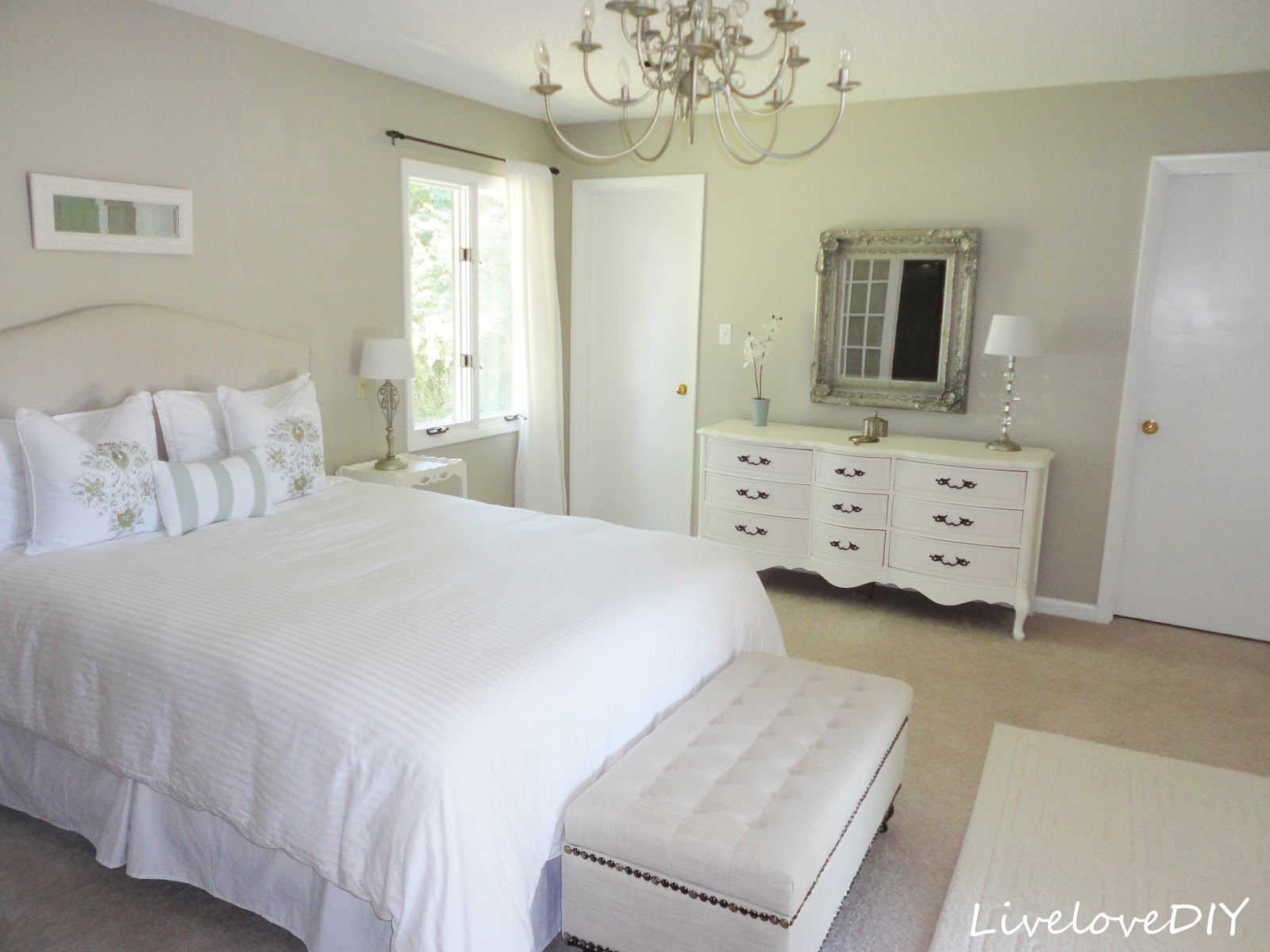 livelovediy how to make an upholstered headboard with a drop cloth