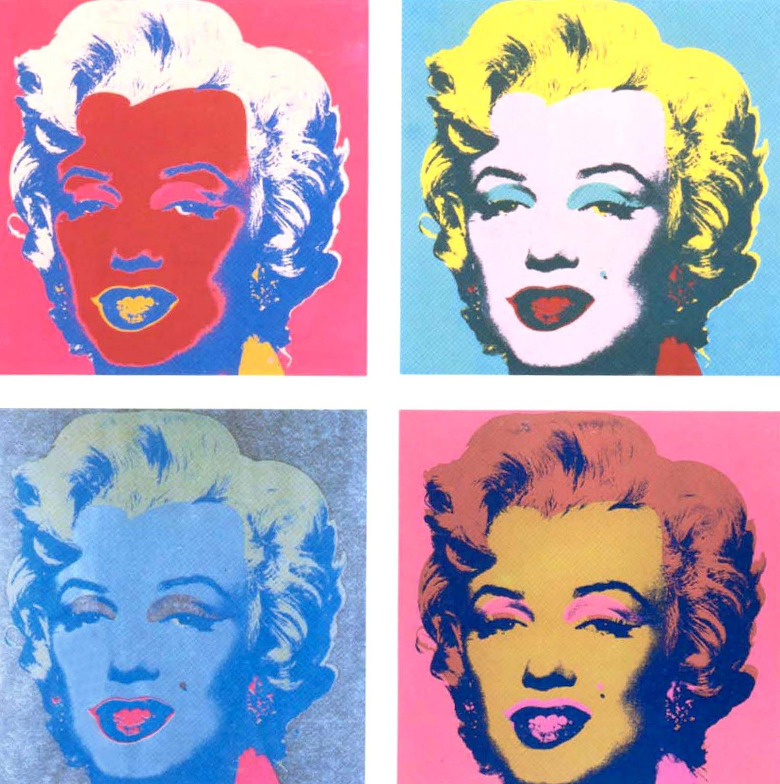 Andy Warhol i Marilyn Monroe