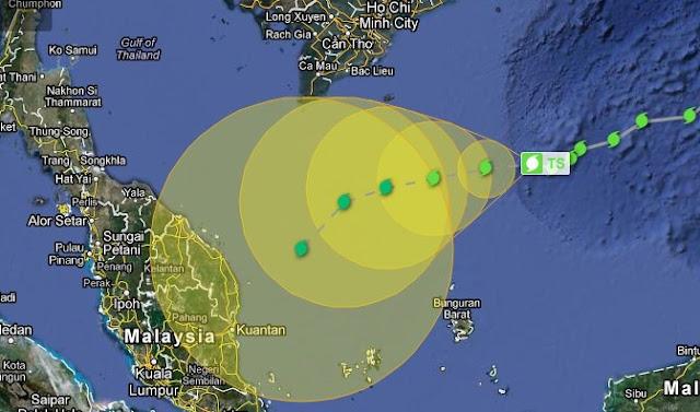 Ramalan Dan Amaran Ribut Tropika Sonamu Melanda Malaysia