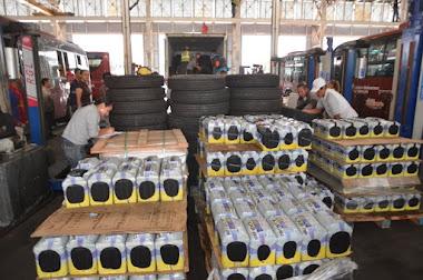 Trolebús Mérida recibió insumos que serán distribuidos entre transportistas merideños