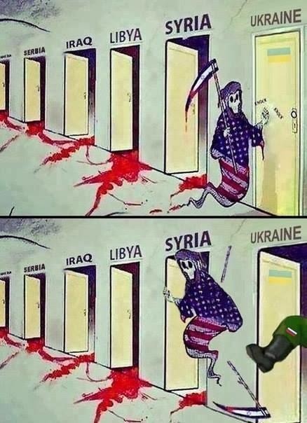 Cartoon, Funny pictures, United States, Russia, Ukraine, Crimea,