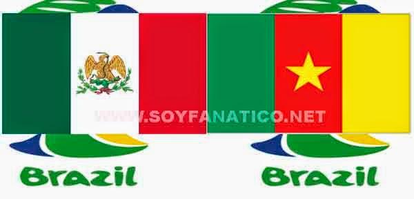 Hora Mexico vs Camerun 2014