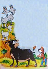 Fábula el Toro y las Cabras con enseñanza