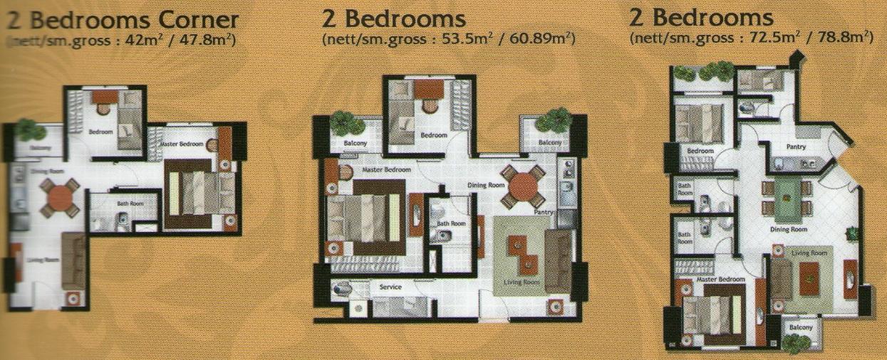 Royal Mediterania Garden Residences Apartemen  Layout