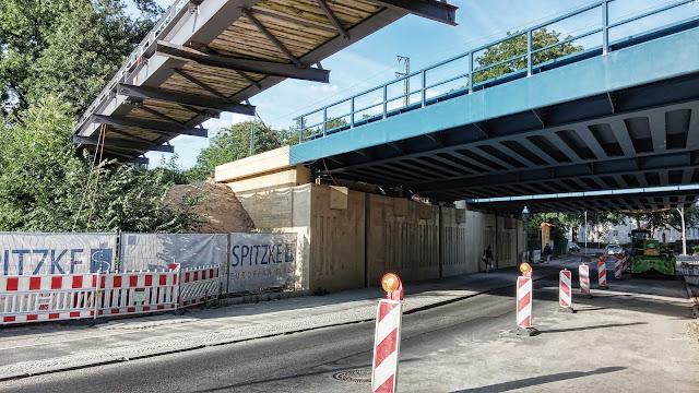 Baustelle Grunderneuerung S7 West, BA 4.2 einschl. F-bahn, Spanische Allee 168, 14129 Berlin, 10.06.2014