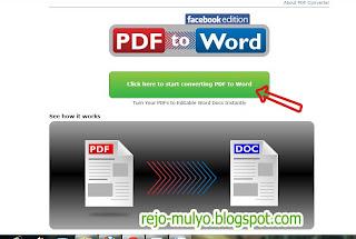 Mengonvert File PDF ke Word Versi Facebook