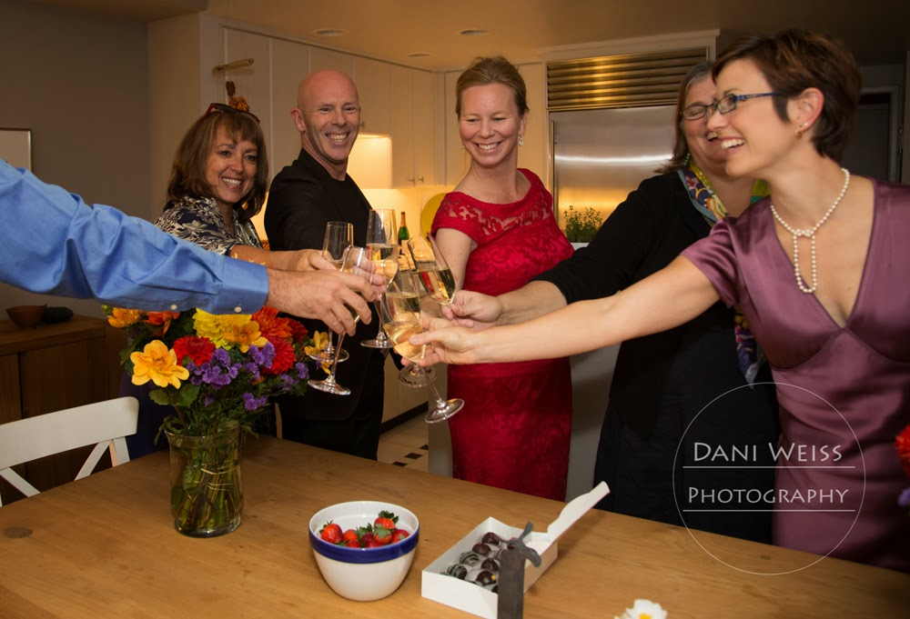 Raise a glass of bubbly to Ulrica and Chris, the newlyweds!  Patricia Stimac, Seattle Wedding Officiant