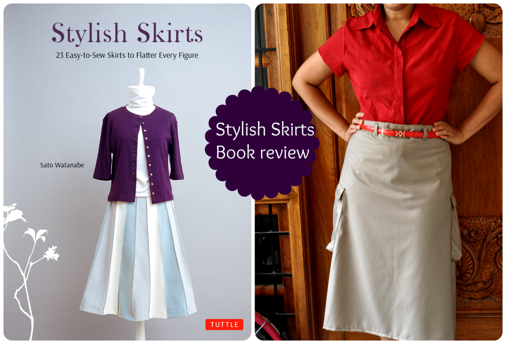 Stylish skirts book review by tuttle publishing sewing book japanese author cargo pocket skirt