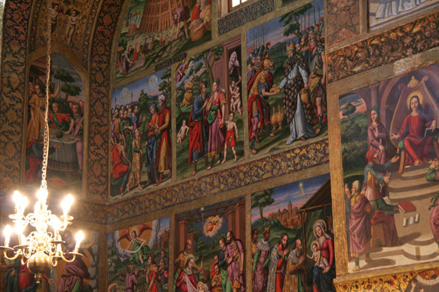 Armenian Cathedral of the Holy Savior Interior Isfahan Iran