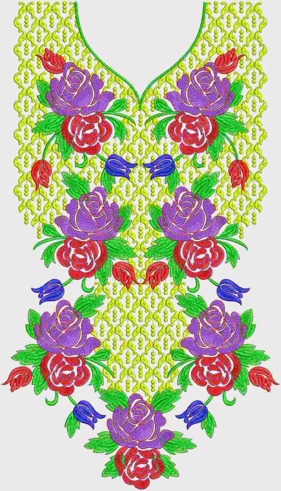 Kleurvolle rooi en pienk kleur rose blomme patti werk nek